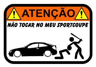 Autocolante Impresso - Não tocar no meu Sportcoupe (Mercedes C)