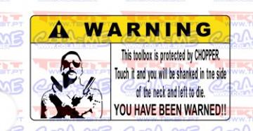 Autocolante Impresso - Warning
