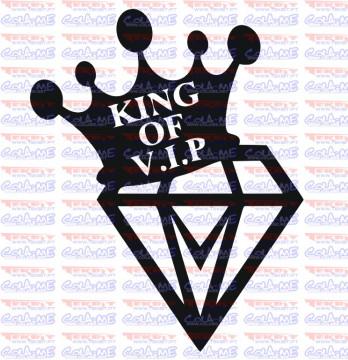 Autocolante - King of V.I.P