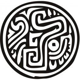 Autocolante - Padrão Azteca