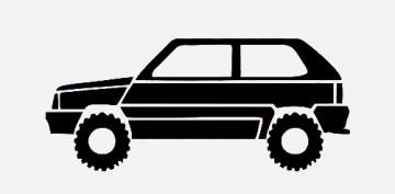 Autocolante para Fiat Panda 4x4