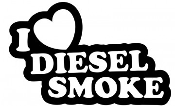 Autocolante para I Love diesel Smoke