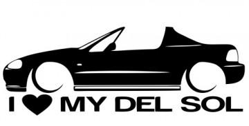 Autocolante para I love Honda Del Sol