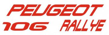 Autocolante - Peugeot 106 Rallye