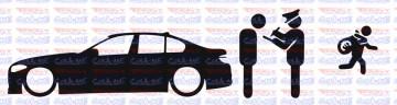 Autocolante - Policia e ladrões - BMW F10