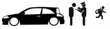 Autocolante - Policia e ladrões - Renault Megane 2