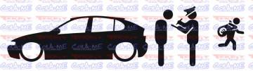 Autocolante - Policia e ladrões - Seat Leon 1M