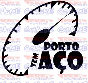 Autocolante - Porto tem aço