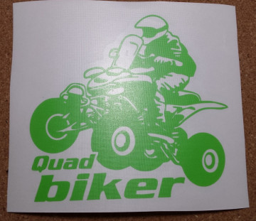 Autocolante - Quard Biker.