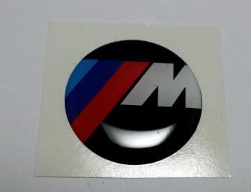 Autocolante Resinado 3D com BMW ///M - 28mm