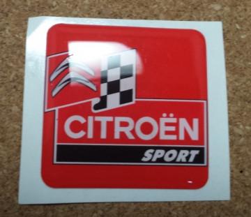 Autocolante Resinado 3D para Citroen- 35 x 35mm