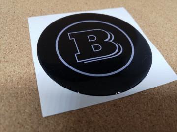 Autocolante Resinado 3D para Smart com Brabus- 98mm x 98mm