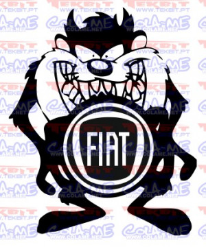 Autocolante - Taz Fiat