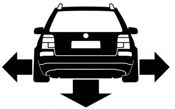 Autocolante - Volkswagen Passat B5 3B - Traseira (Baixo e Largo)