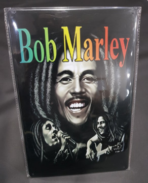 Chapa decorativa com Bob Marley
