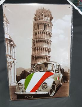 Chapa decorativa com Carocha Pisa