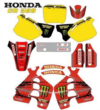 Kit Autocolantes Para HONDA CR 500