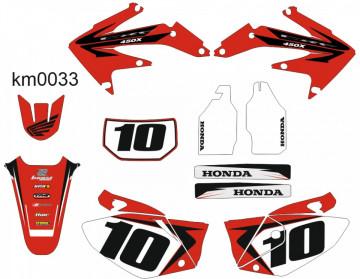 Kit Autocolantes Para Moto - Honda CRF 450x - 04-16