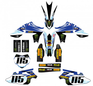 Kit Autocolantes Para Yamaha yzf 450 10-13