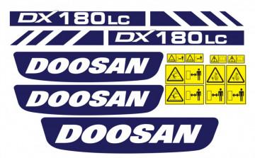 Kit de Autocolantes para DOOSAN DX180LC