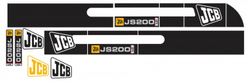 Kit de Autocolantes para JCB JS200