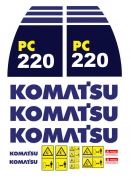 Kit de Autocolantes para KOMATSU PC220