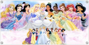 Lona de Aniversário - Princesas