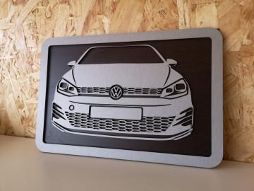Moldura 3D em MDF com Volkswagen Golf VII
