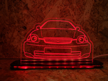 Moldura / Candeeiro com luz de presença - Honda Civic EK