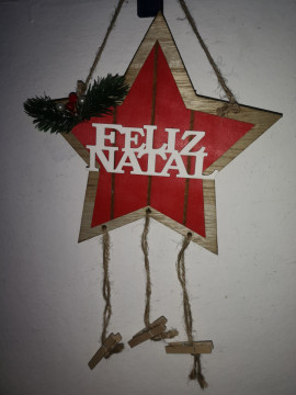 Ornamento Estrela - Feliz Natal