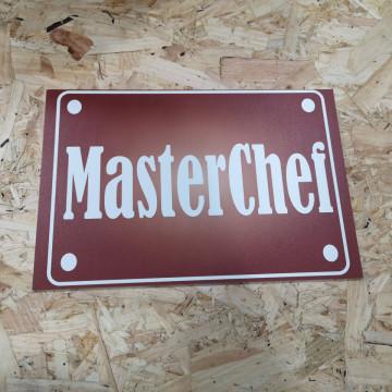Placa Decorativa em PVC - Masterchef