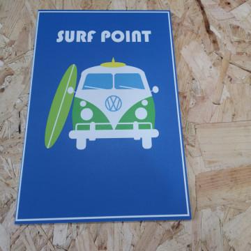 Placa Decorativa em PVC - Vw Pão de forma Surf Point