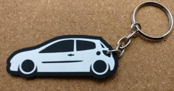 Porta Chaves com silhueta de  Renault Clio 3