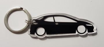 Porta Chaves de Acrílico com silhueta de Honda Civic FN2