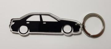 Porta Chaves de Acrílico com silhueta de Peugeot 406