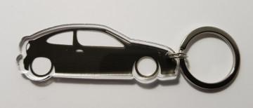 Porta Chaves de Acrílico com silhueta de Renault Megane Coupe