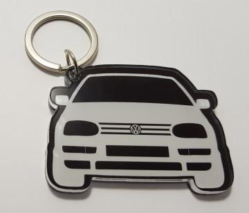 Porta chaves em acrílico com silhueta Golf III