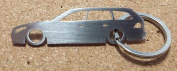 Porta Chaves em inox com silhueta com BMW E61 Touring - Série 5