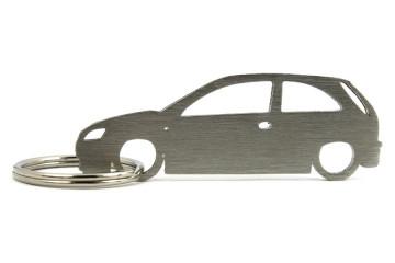 Porta Chaves em inox com silhueta com Opel Corsa C 3P