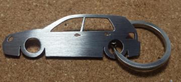 Porta Chaves em inox com silhueta com Volkswagen Golf IV 5P