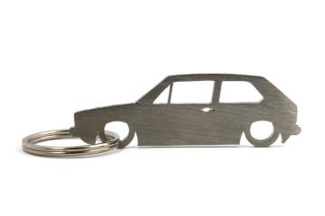 Porta Chaves em inox com silhueta com Volkswagen Golf MK1