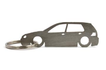 Porta Chaves em inox com silhueta com Volkswagen Golf MK4 5P