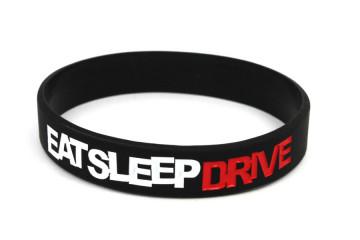 Pulseira-  EAT SLEEP DRIVE Preto