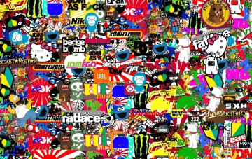 Sticker Bomb - Cartoons 4  - 48x75cm