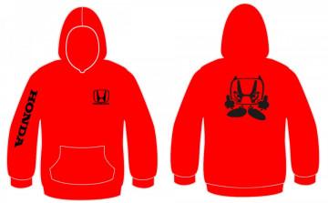 Sweatshirt com capuz para Honda Dedo Manguito