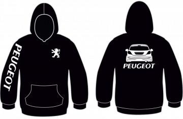 Sweatshirt com capuz para Peugeot 207 Traseira
