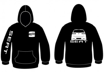 Sweatshirt com capuz para Seat Ibiza 6L Traseira