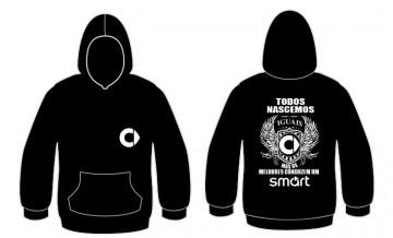 Sweatshirt com capuz Todos Nascemos (Smart)