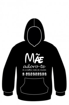 Sweatshirt com Mãe adoro-te