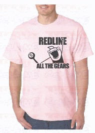 T-shirt  - RED LINE ALL THE GEARS